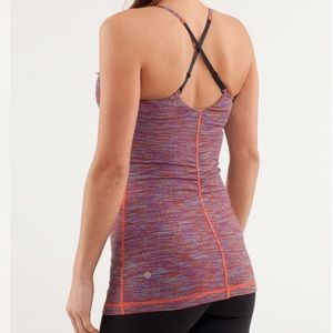 Lululemon Open Your Heart Purple Orange Stripe
